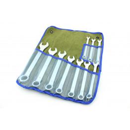 Наборы комбинированных ключей 10 едениц в сумке. Размеры ключей:  8, 9, 10, 11, 12, 13, 14, 17, 19, 22.