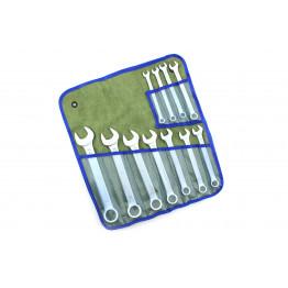 Наборы комбинированных ключей 11 едениц в сумке. Размеры ключей:  8, 9, 10, 11, 12, 13, 14, 17, 19, 22, 24.