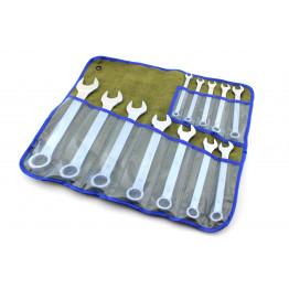Наборы комбинированных ключей 11 едениц в сумке. Размеры ключей:  8, 9, 10, 11, 12, 13, 14, 17, 19, 22, 24, 27.