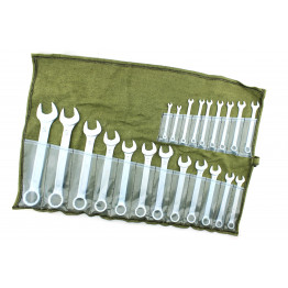Наборы комбинированных ключей 21 еденица в сумке. Размеры ключей:  5, 6, 7, 8, 9, 10, 11, 12, 13, 14, 15, 17, 18, 19, 21, 22, 23, 24, 27, 30, 32.