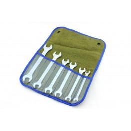 Наборы рожковых ключей                           6 едениц в сумке.                               Размеры ключей: 8×10, 10×12, 12×13, 13×14, 14×17, 17×19.
