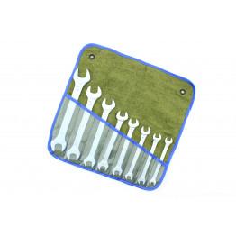 Наборы рожковых ключей                              8 едениц в сумке.                                Размеры ключей: 8×10, 9×11, 10×12, 12×13, 13×14, 14×17, 17×19, 19×22.