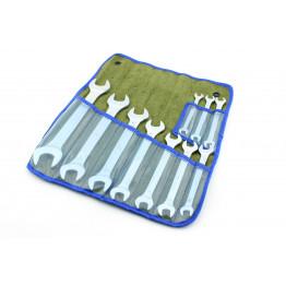 Наборы рожковых ключей 10 едениц в сумке. Размеры ключей: 8×9, 8×10, 9×11, 10×12, 12×13, 13×14, 14×17, 17×19, 19×22, 22×24.