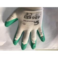 Перчатки стрейчевые покрытые вспененным латексом размер 10