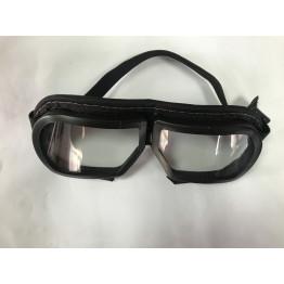 Очки защитные для болгарки со стеклом прошитые тканью